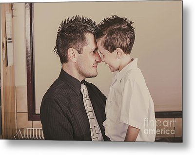 Young Dad And Little Boy Showing Affection Metal Print by Jorgo Photography - Wall Art Gallery
