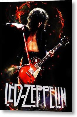 Zeppelin Metal Print by FHT Designs