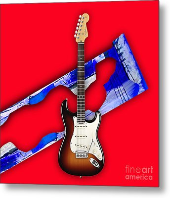 Fender Stratocaster Collection Metal Print by Marvin Blaine