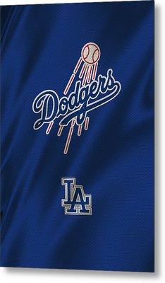 Los Angeles Dodgers Uniform Metal Print by Joe Hamilton