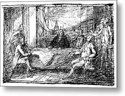 Treaty Of Paris, 1783 Metal Print by Granger