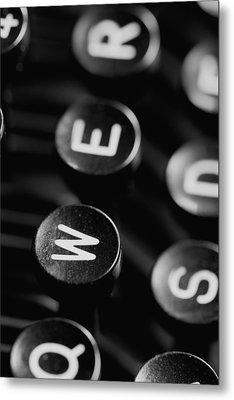 Typewriter Keys Metal Print by Falko Follert