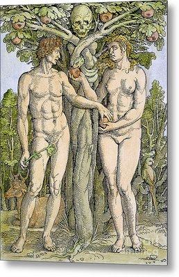 Adam And Eve Metal Print by Granger