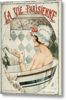La Vie Parisienne  1919 1910s France Metal Print by The Advertising Archives