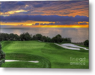 11th Green - Trump National Golf Course Metal Print by Eddie Yerkish