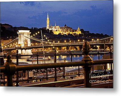 Budapest By Night Metal Print by Odon Czintos