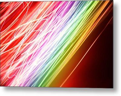 Energy Lines Metal Print by Les Cunliffe