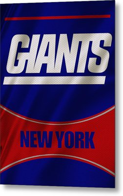 New York Giants Uniform Metal Print by Joe Hamilton