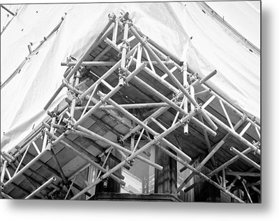 Scaffolding Metal Print by Tom Gowanlock