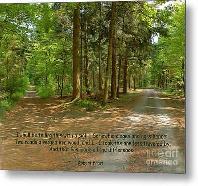 12- The Road Not Taken Metal Print by Joseph Keane