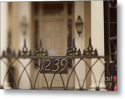 1239 Gate Metal Print by Heather Green
