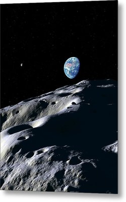 Asteroid Approaching Earth Metal Print by Detlev Van Ravenswaay