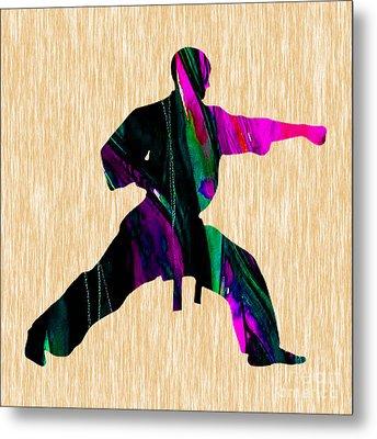Martial Arts Karate Metal Print by Marvin Blaine