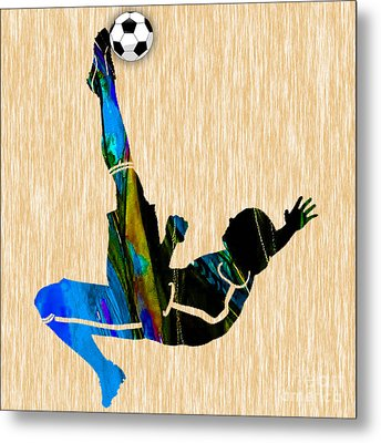 Soccer Metal Print by Marvin Blaine