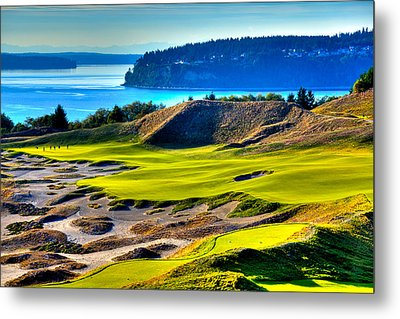 #14 At Chambers Bay Golf Course - Location Of The 2015 U.s. Open Tournament Metal Print by David Patterson