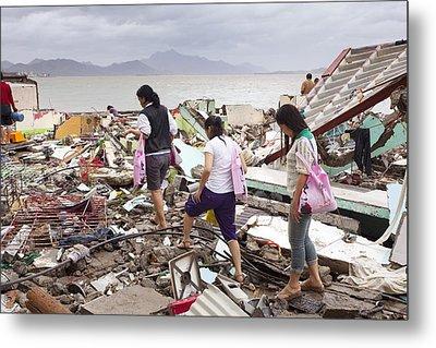 Destruction After Super Typhoon Haiyan Metal Print by Jim Edds