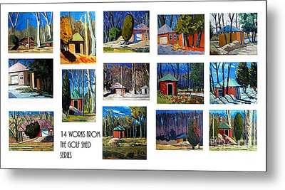 14 Works From The Golf Shed Series Metal Print by Charlie Spear