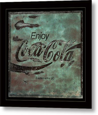 Coca Cola Sign Grungy Retro Style Metal Print by John Stephens