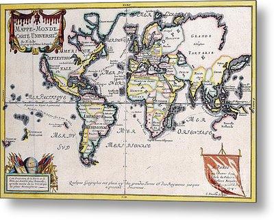 Antiquie Map Metal Print by Baltzgar