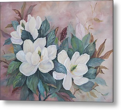 Flowers Of The South Metal Print by Frances Lewis