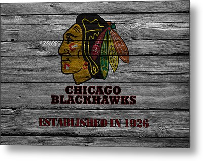 Chicago Blackhawks Metal Print by Joe Hamilton