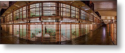 180 Degree View Of The Corridor Metal Print by Panoramic Images