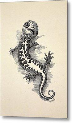 1863 Kingsley Waterbabies Human Newt Metal Print by Paul D Stewart