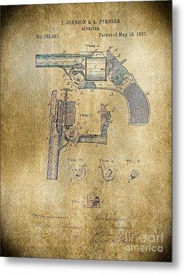 1887 Revolver Metal Print by Steven Parker