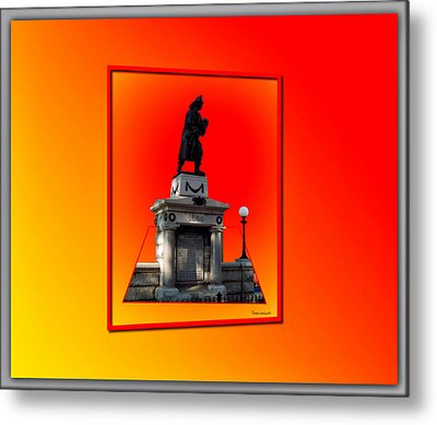 1898 Firemen Memorial Metal Print by Thomas Woolworth