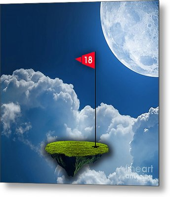 18th Hole Metal Print by Marvin Blaine