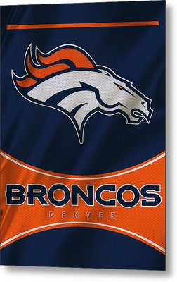 Denver Broncos Uniform Metal Print by Joe Hamilton