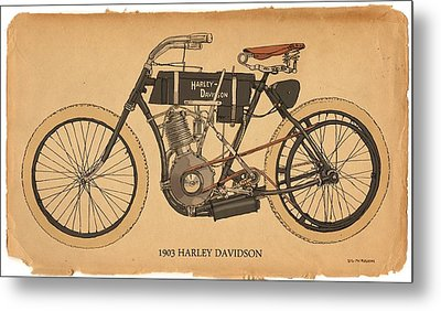 1903 Harley Davidson Metal Print by RG McMahon