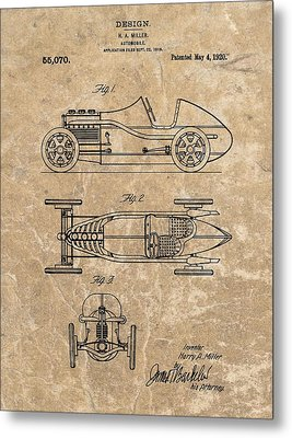 1920 Roadster Patent Metal Print by Dan Sproul