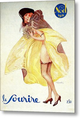 1920s France Le Sourire Magazine Cover Metal Print by The Advertising Archives