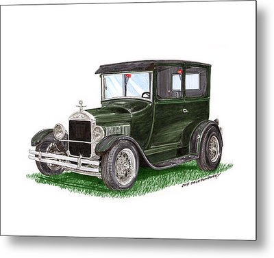 1926 Ford Tudor Sedan Street Rod Metal Print by Jack Pumphrey
