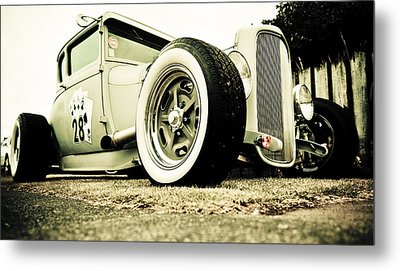 1928 Ford Model A Hot Rod Metal Print by Phil 'motography' Clark