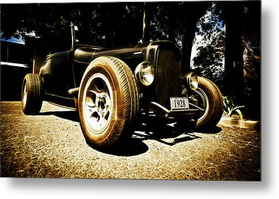 1928 Ford Model A Rod Metal Print by Phil 'motography' Clark
