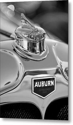 1929 Auburn 8-90 Speedster Hood Ornament 2 Metal Print by Jill Reger