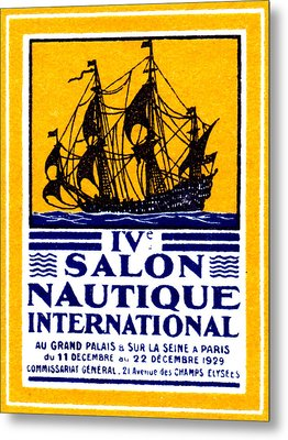 1929 Paris Boat Show Metal Print by Historic Image