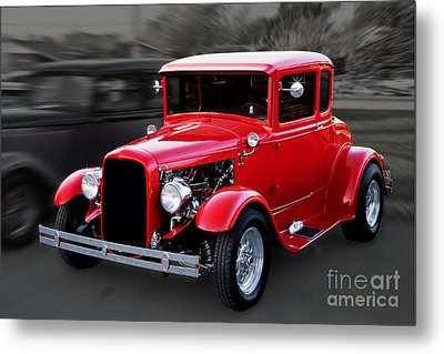 1930 Ford Model A Coupe Metal Print by Gene Healy