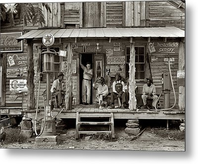 1930's Southern Gas Station Metal Print by Digital Reproductions