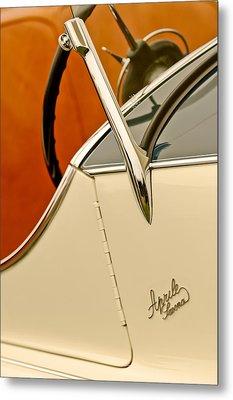 1931 Alfa Romeo 6c 1750 Gran Sport Aprile Spider Corsa Steering Wheel Metal Print by Jill Reger