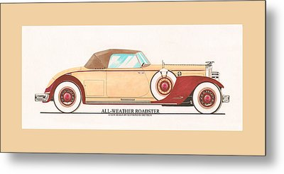1932 Packard All Weather Roadster By Dietrich Concept Metal Print by Jack Pumphrey