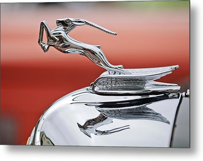 1933 Chrysler Cl Imperial Custom Dual Windshield Phaeton Hood Ornament Metal Print by Jill Reger