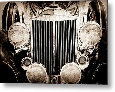 1933 Packard 12 Convertible Coupe Classic Car Metal Print by Jill Reger