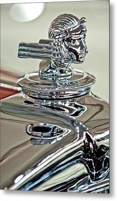 1933 Stutz Dv-32 Dual Cowl Phaeton Hood Ornament 2 Metal Print by Jill Reger