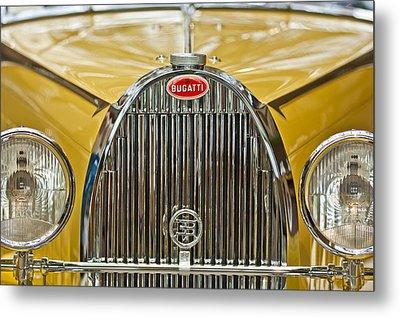 1935 Bugatti Type 57 Roadster Grille Metal Print by Jill Reger