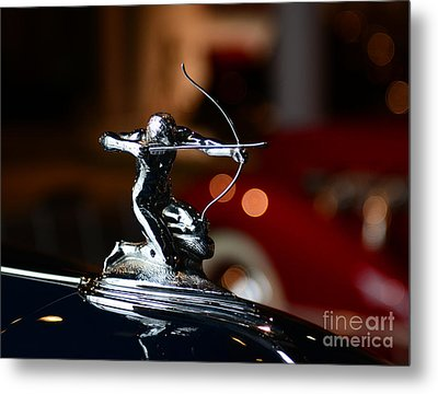 1936 Pierce Arrow Hood Ornament Metal Print by Paul Ward