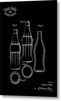 1937 Coca Cola Bottle Metal Print by Mark Rogan