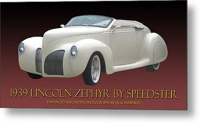 1939 Lincoln Zephyr Poster Metal Print by Jack Pumphrey
